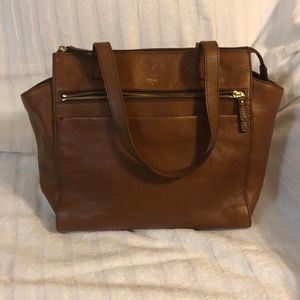 Authentic Fossil Cow leather handbag